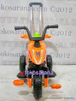 Motor Mainan Aki Pliko PK301 Hibrid: Dinamo Motor dan Gowes