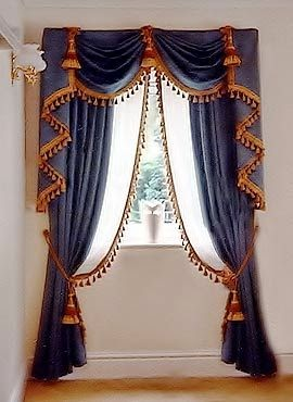 Captivating Luxury Classic Curtains And Drapes 2017, Blue Curtains Designs For Window