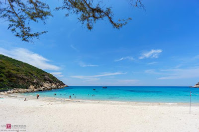 Beach not crowded with people Binh Ba