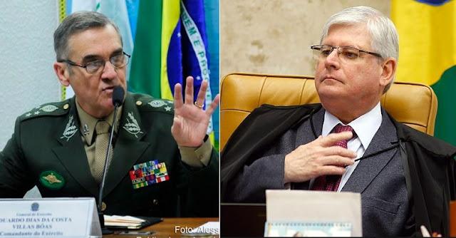 """Resultado de imagem para """"Outro 64 será inaceitável"""" , diz Janot sobre tuíte de comandante do Exército"""