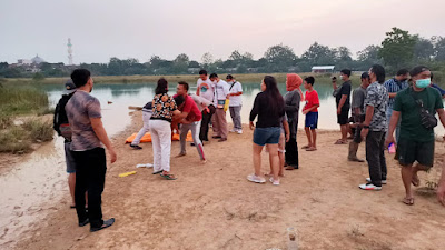 Olah TKP Bocah Tenggelam di danau Puspemkab Tangerang, berikut Kronologisnya