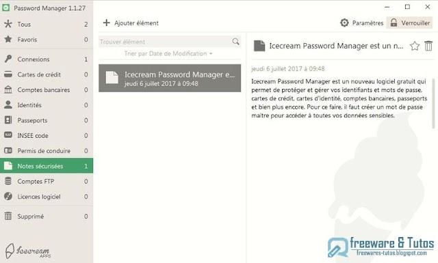 Icecream Password Manager : un nouveau gestionnaire de mots de passe gratuit