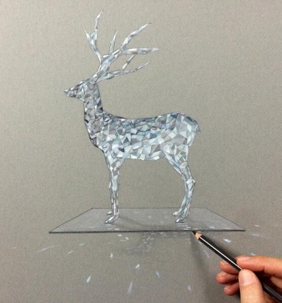01-Deer-Leonardo-Pereznieto-Swarovski-Crystal-Drawings-www-designstack-co