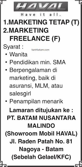 Lowongan Kerja PT. Batam Nusantara Malindo