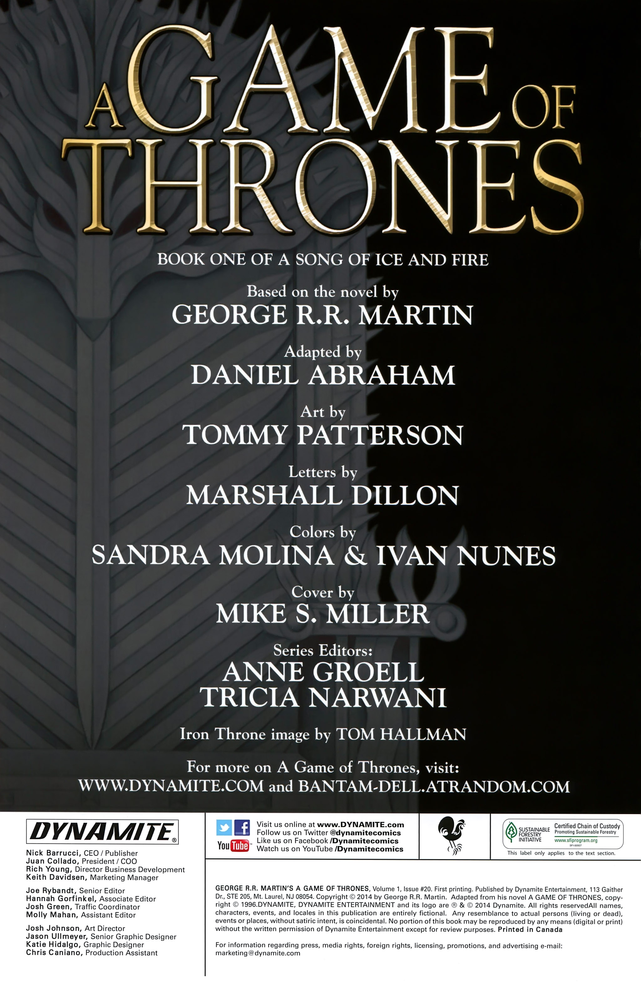 Read online A Game Of Thrones comic -  Issue #20 - 2