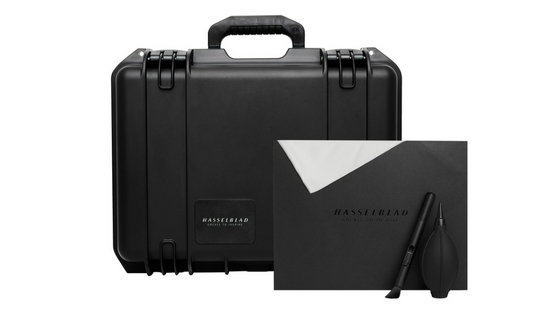 Hasselblad X1D Field Kit comes in a rugged Pelican case