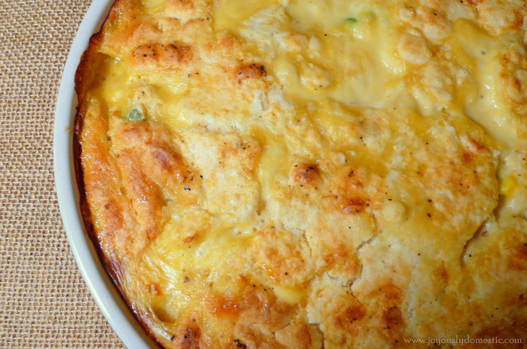 Joyously Domestic Chicken And Biscuit Bake