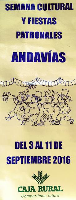 Fiestas ANDAVIAS 2016
