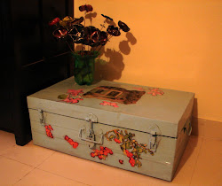 An old iron trunk gets a make-over