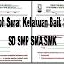 Contoh Surat Kelakuan Baik Siswa SD SMP SMA SMK Tahun 2018/2019