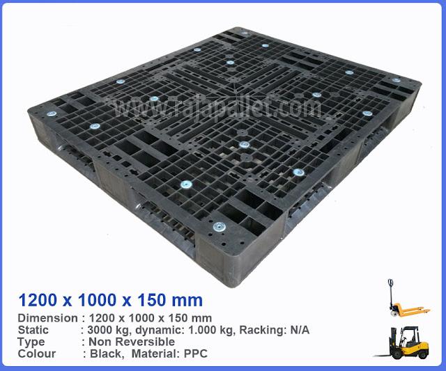 Pallet Plastik Bekas 1200 x 1000 x 150 mm