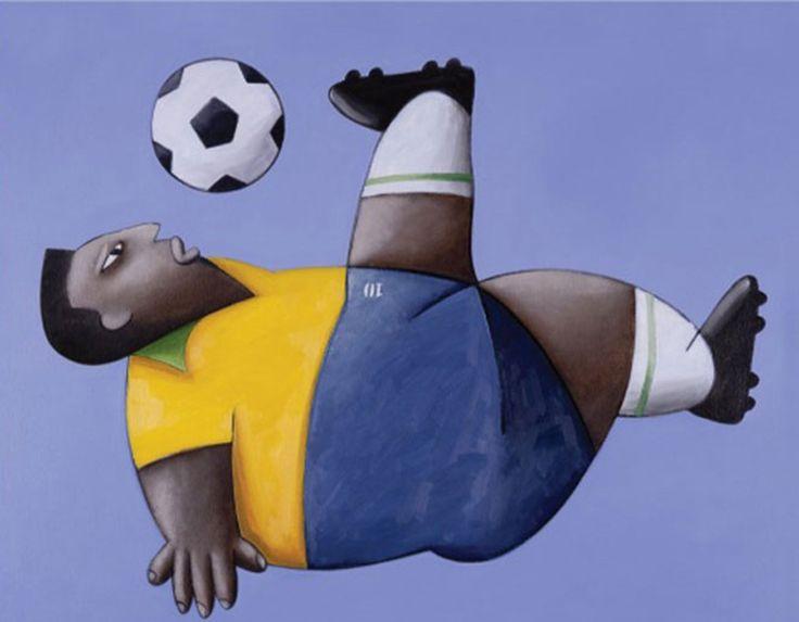 Pintura de Gustavo Rosa - Pelé