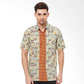 Gambar Model Baju Batik Pria Kombinasi