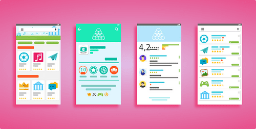 Android UI screens.