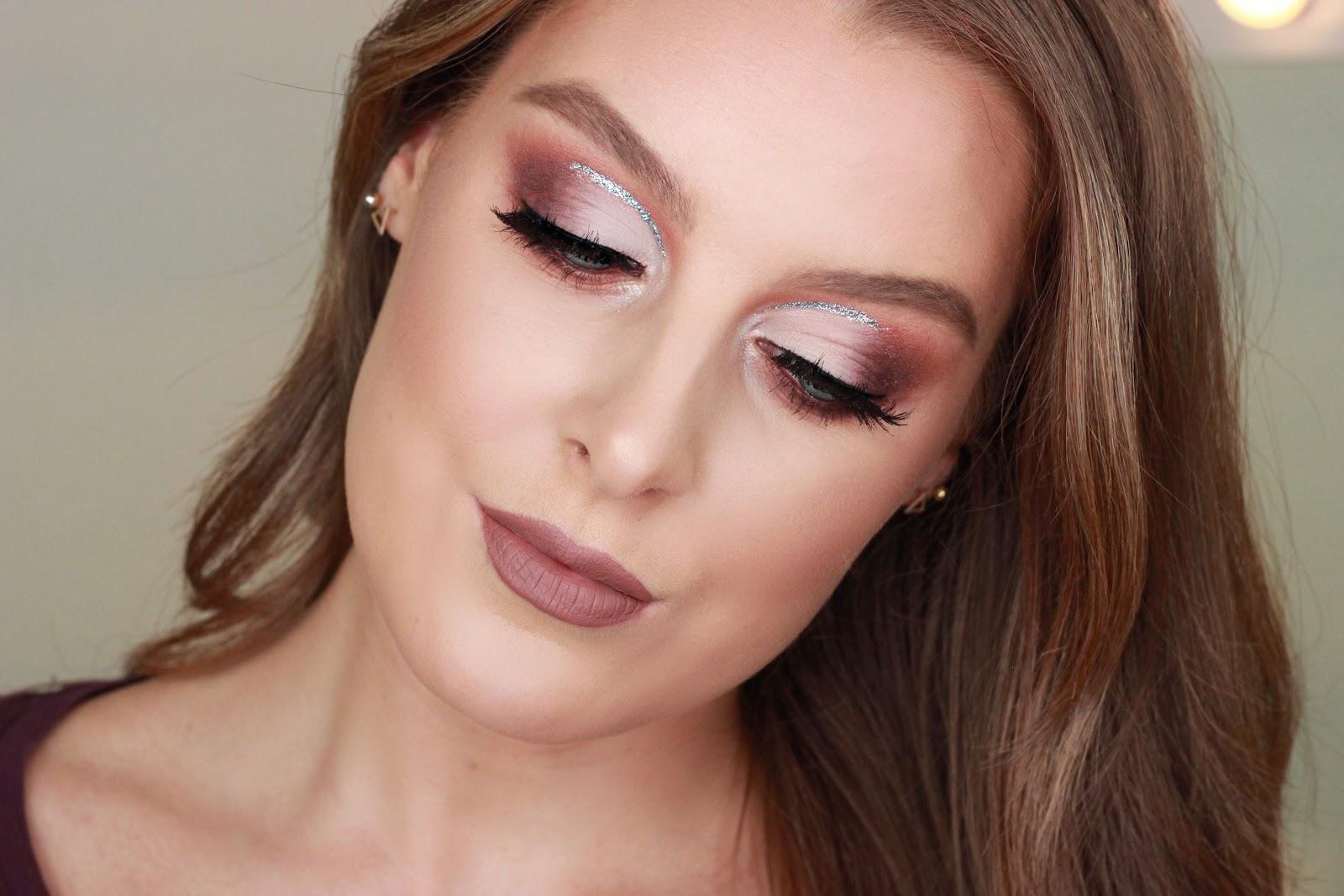 Glitter Half Cut Crease Makeup Tutorial