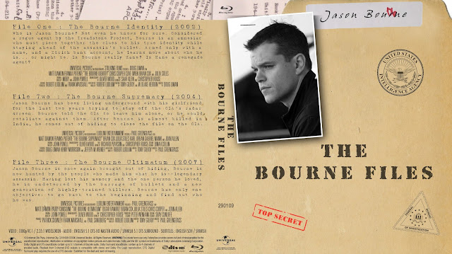 The Bourne Files Collection Bluray Cover