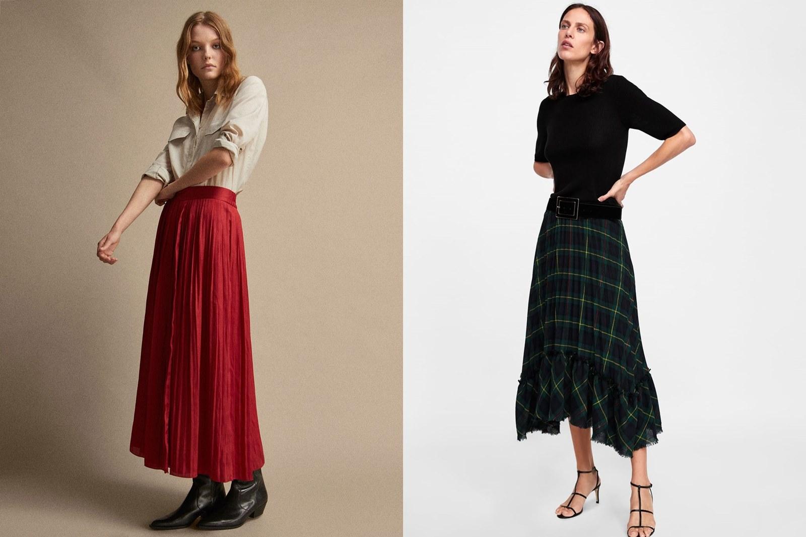 Spódnica plisowana trendy jesień/zima 2018/2019, trendy jesień/zima, jesień 218, zima 2018, spódnica plisowana, spódnice plisowane, gdzie kupić plisowane spódnice