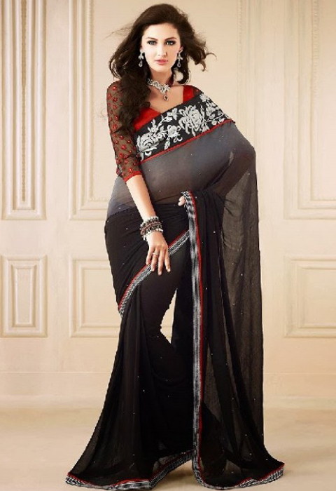 busana tradisional wanita india