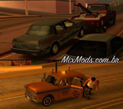 trucks trailer gta sa mod cleo guincho guinchando carros taxis parando