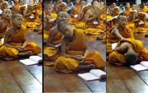 Boy Monk falling asleep – FUNNY VIDEO