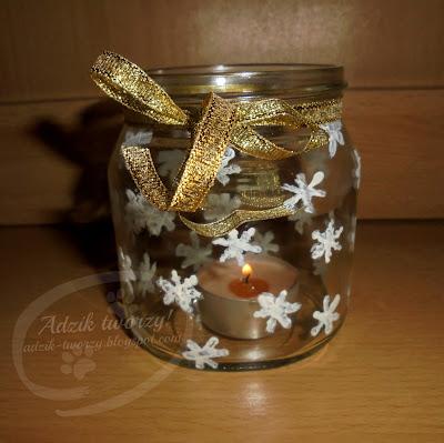 diy świecznik ze słoika, diy dekoracje świąteczne