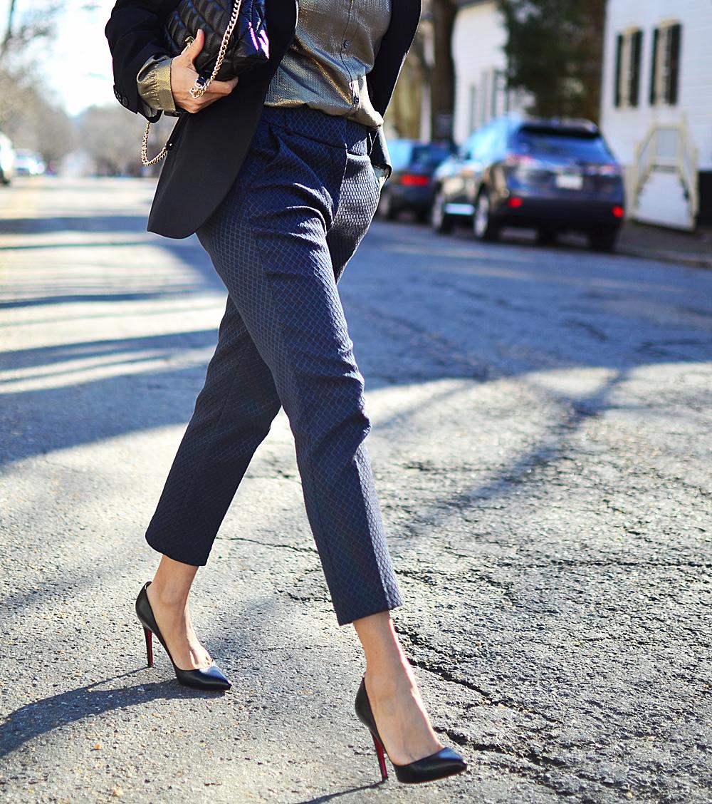 Jacquard pants street style
