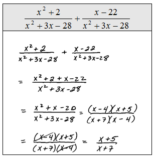 Printables. Adding Rational Expressions Worksheet. Mywcct