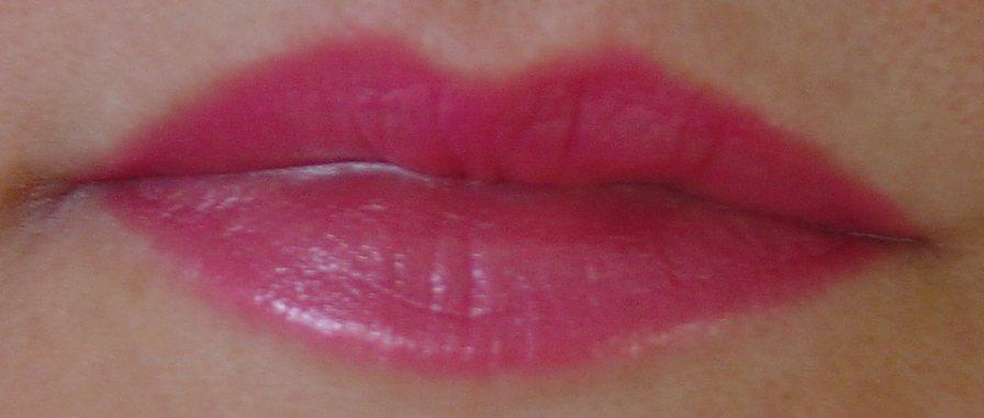 modeling Mirabella Beauty Lip Colour (Fleur) lipstick.jpeg
