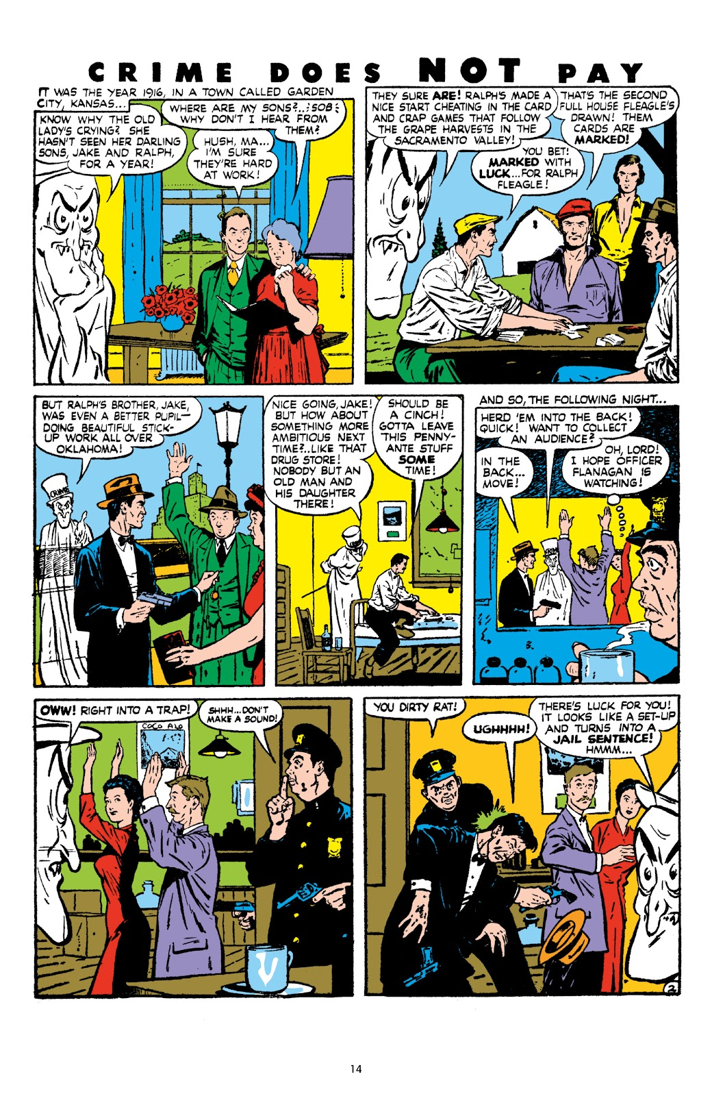 Read online Crime Does Not Pay Archives comic -  Issue # TPB 8 (Part 1) - 16