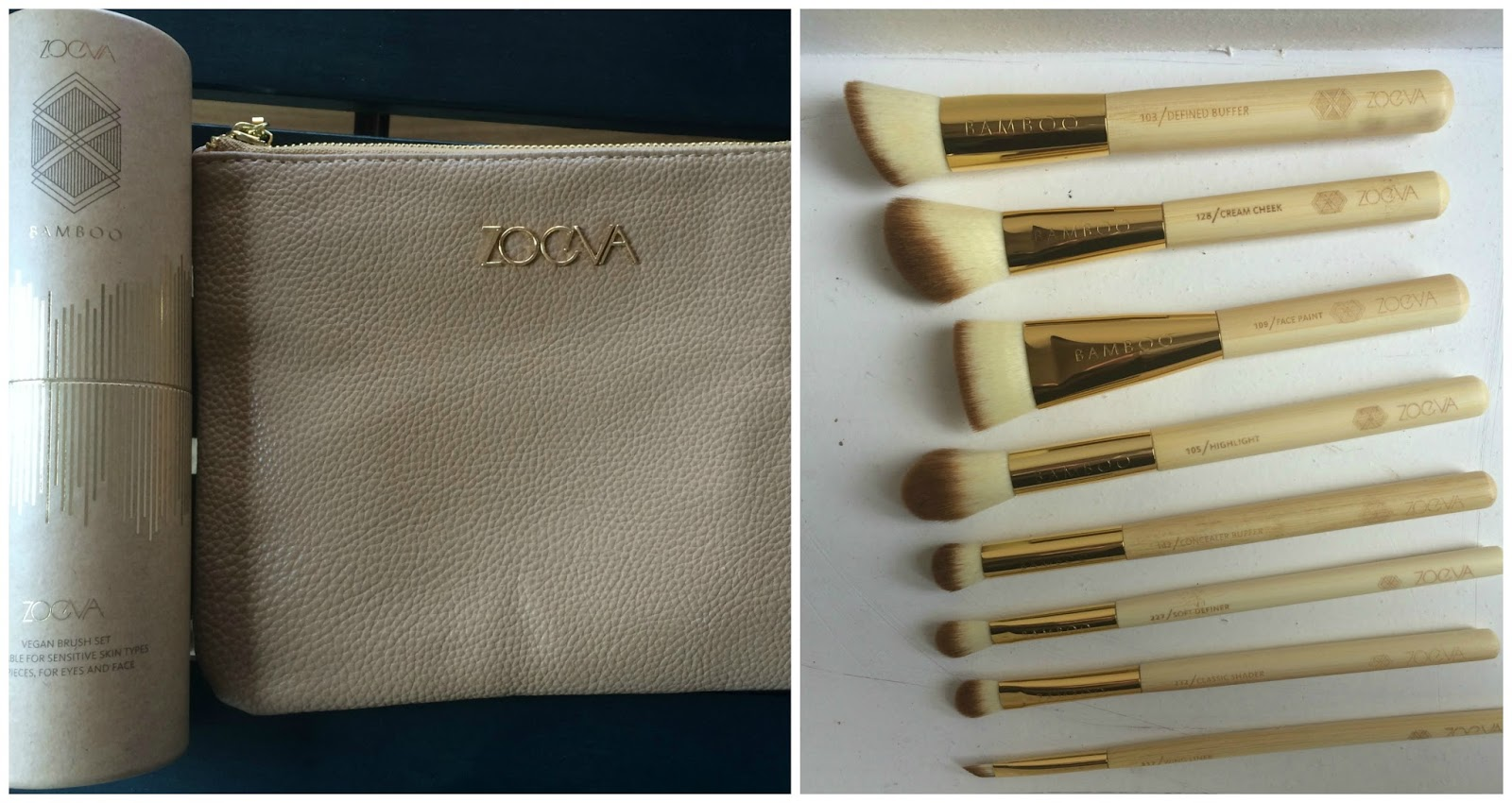 zoeva bamboo vol 2 pouch and brushes