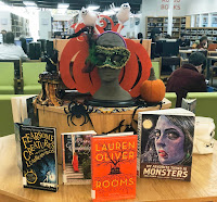 Display of Halloween related books