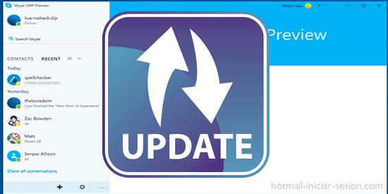 Skype para Windows 10 en hotmail iniciar sesion