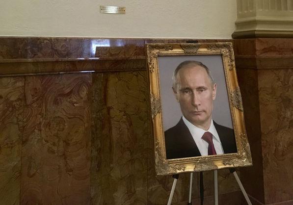 У Капітолії США фото Путіна помістили на місце портрета Трампа