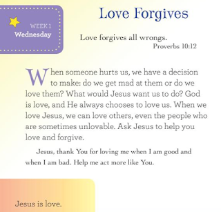 Page sample: My Daily Devotional for Kids