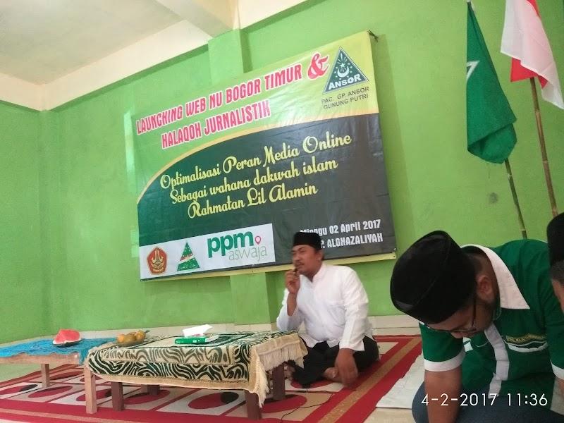 Optimalkan Media Online, Ansor Gunung Putri Gelar Launching Web dan Halaqoh Jurnalistik
