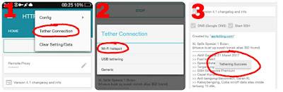 cara tethering hotspot HTTP injector