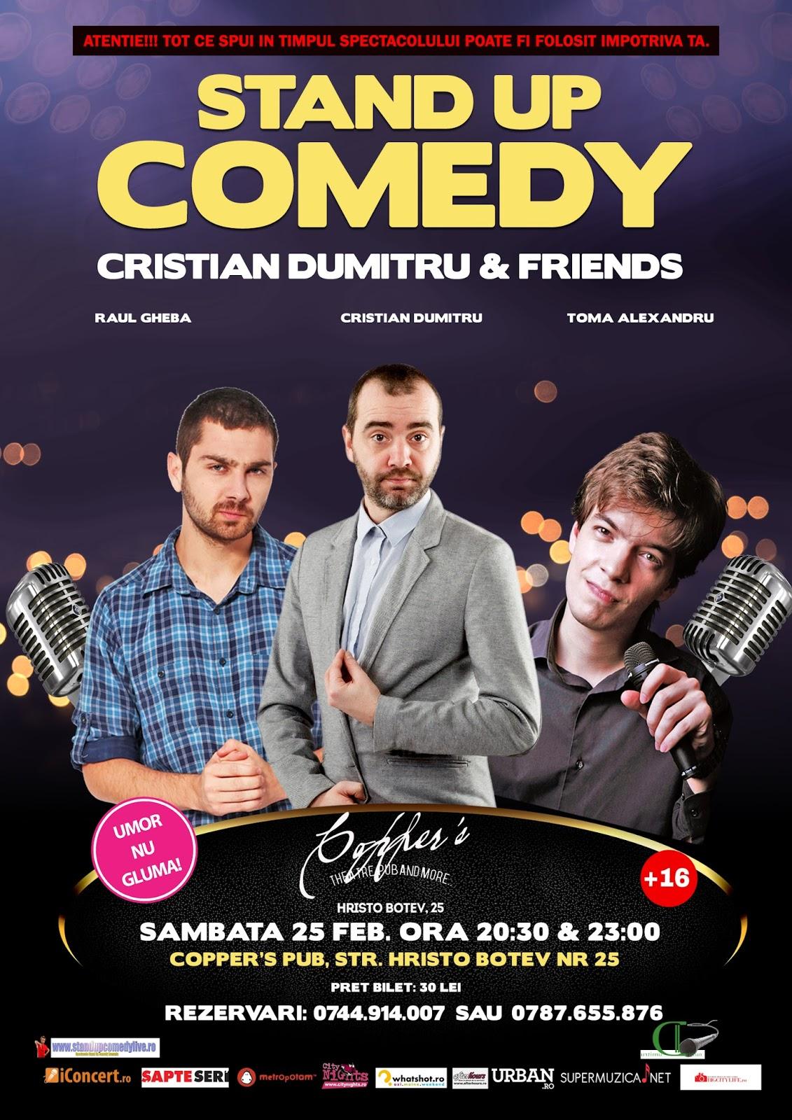 Stand-Up Comedy Sambata 25 Februarie Bucuresti