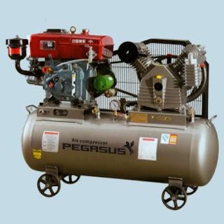 Máy nén khí Pegasus chạy bằng dầu Diesel TM-W-1.6/12.5-500L