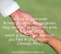 Geliefd - Jesaja 44:2