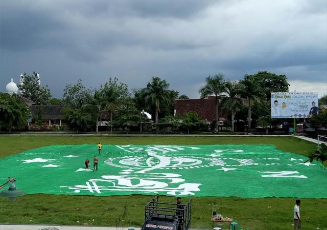 Keren! Lombok Persiapkan Bendera NU Raksasa Seberat 6 Kuintal