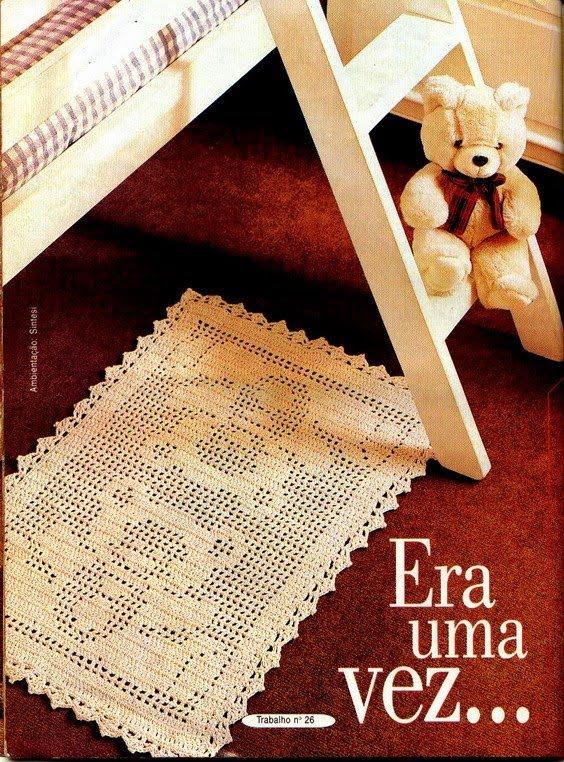 Tapete Rosa Para Quarto Infantil : Flor de Liz: Tapete de Croch? – Quarto Infantil – Ursinho