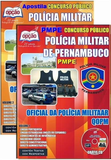 Apostila Concurso Polícia Militar PM-PE 2016.