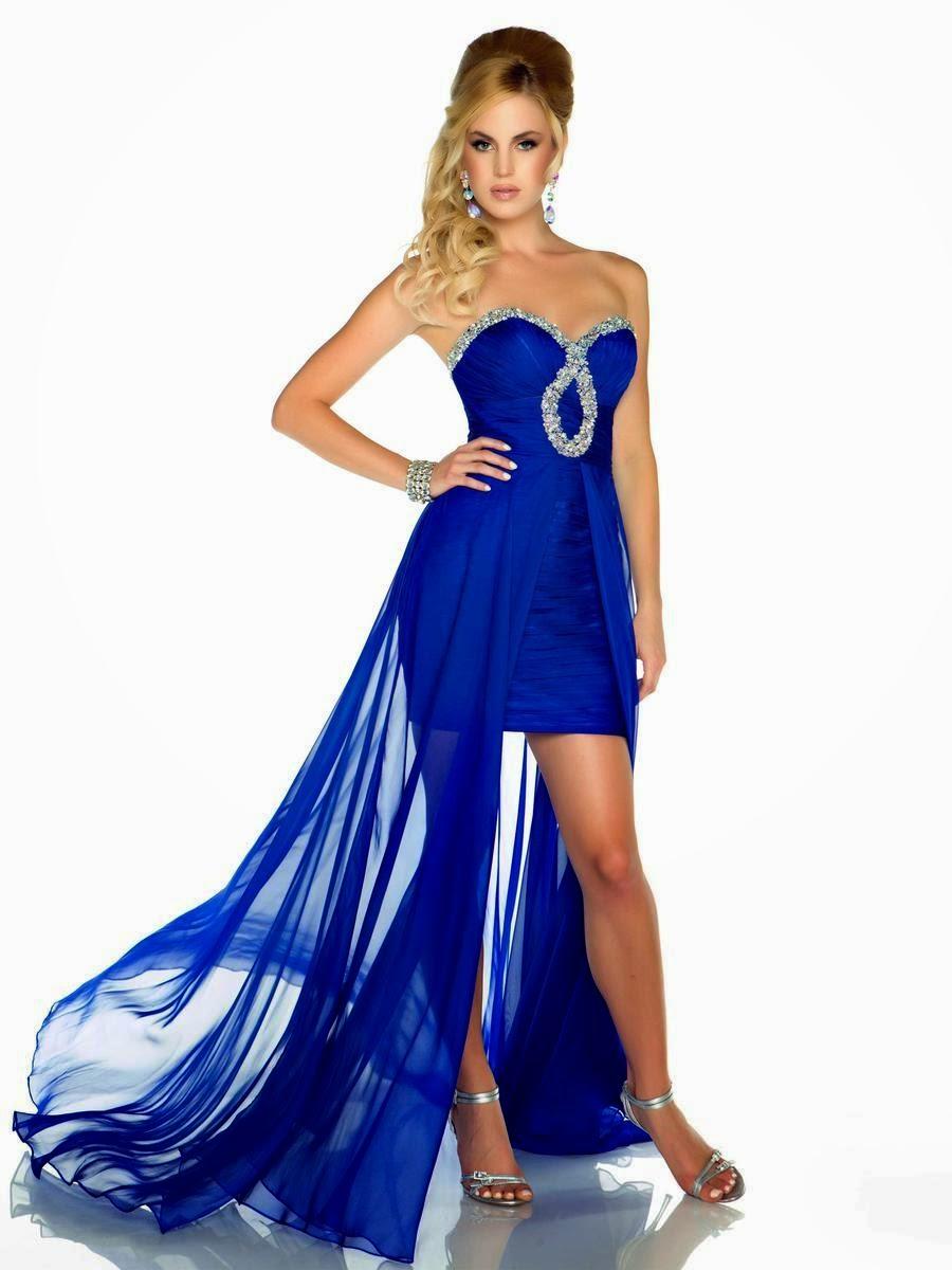 Vestidos de fiesta color azul electrico
