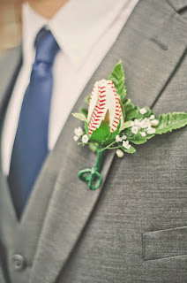 wedding ideas - boutonniere ideas - baseball rose - wedding services in Philadelphia PA. - inspiration by K'Mich - wedding ideas blog