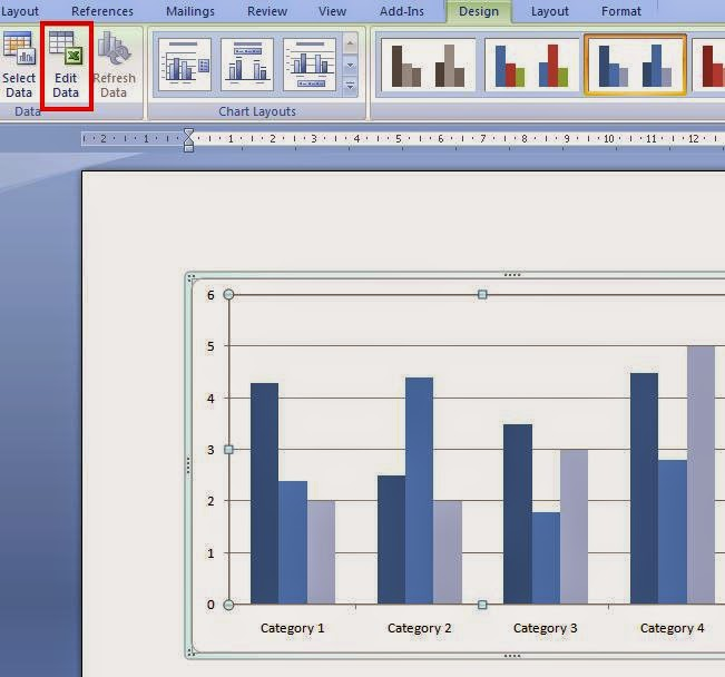 Cara Edit Data Grafik Pada Ms.Office Word