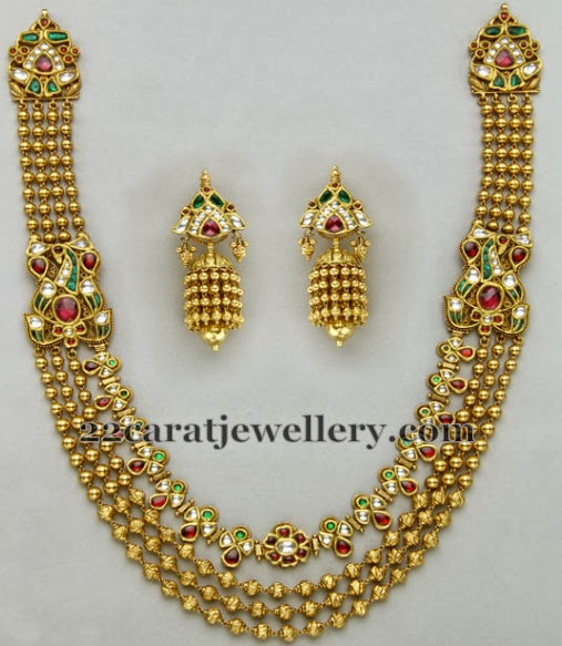 latest designer kundan haar jewellery designs