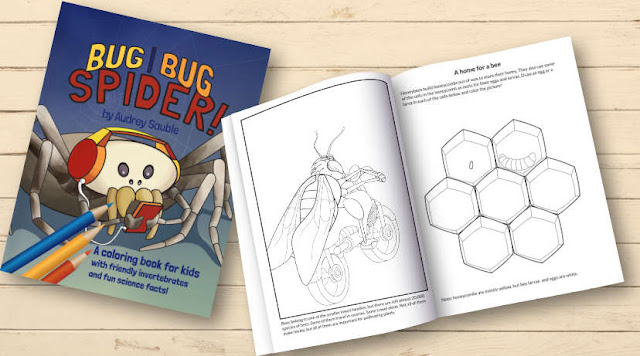 A children's coloring book: Bug, Bug, Spider