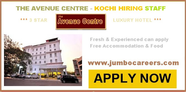 kochi hotel jobs, latest jobs in cochin