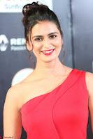Meenakshi Dixit in Red One Shoulder Red Zipped up gown at IIFA Utsavam Award 17.JPG
