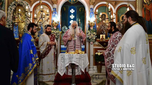 Αρχιερατική θεία λειτουργία στον Ι.Ν Αγίας Βαρβάρας στο Λάλουκα (βίντεο)